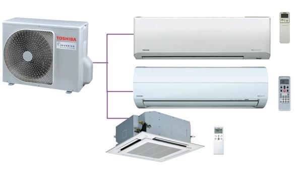 Hệ thống Multi Toshiba 3 phòng ngủ 2 Chiều Inverter  Gas R410a